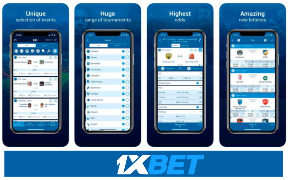 Advantages of 1xBet mobile app.