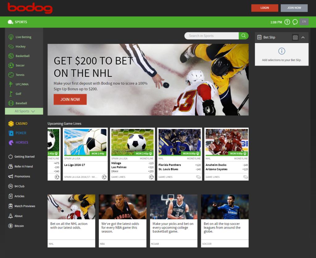 Bodog game platform