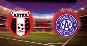 Astra Giurgiu vs Austria Vienna Football Match Prediction.